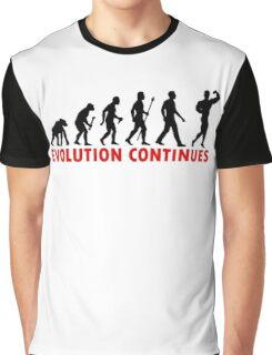 Funnny Bodybuilding Evolution Of Man Pose Silhouette Graphic T-Shirt