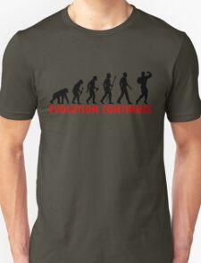 Funnny Bodybuilding Evolution Of Man Pose Silhouette Unisex T-Shirt