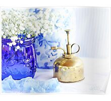 Cobalt Blue Mason Jar Poster