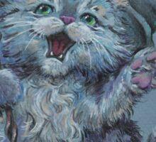 Wizard Kitty (probably casting catnip spells) Sticker