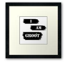 I AM GROOT! Framed Print