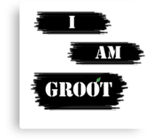 I AM GROOT! Canvas Print