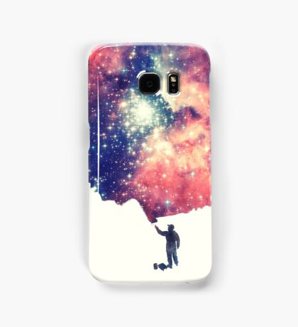 Painting the universe (Colorful Negative Space Art) Samsung Galaxy Case/Skin