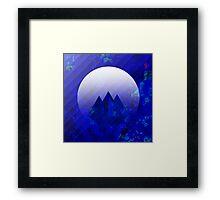 Three Cobalt Peaks - Maps & Apps Series Framed Print