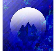 Three Cobalt Peaks - Maps & Apps Series Photographic Print