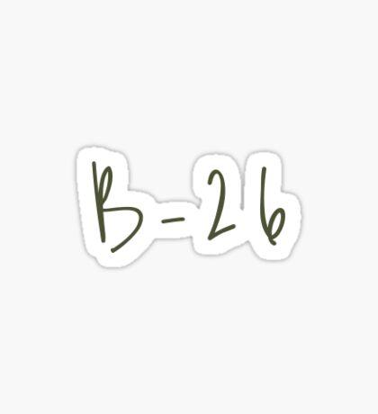 b-26 Sticker