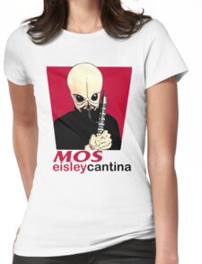 MOS EISLEY CANTINA FAST FOOD T-SHIRT #1 Womens Fitted T-Shirt