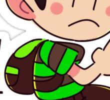 Green & Black Ness Sticker