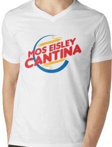 MOS EISLEY CANTINA FAST FOOD T-SHIRT #2 Mens V-Neck T-Shirt