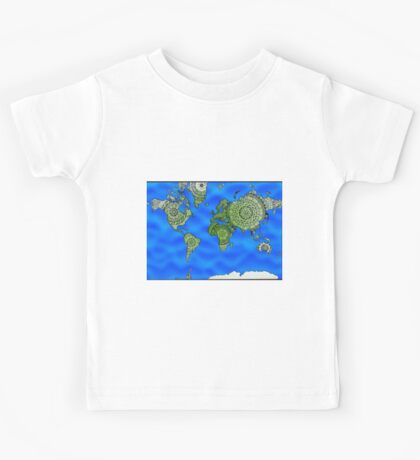 World Map Mandalas Kids Tee