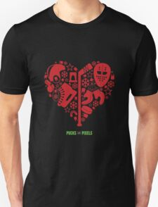 Hockey Heart (Red) T-Shirt
