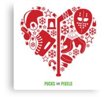 Hockey Heart (Red) Canvas Print