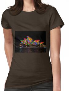 Sydney Vivid 22 Flowers Womens Fitted T-Shirt