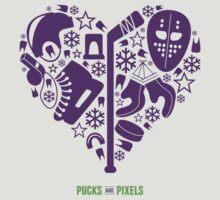 Hockey Heart (Purple) by pucksandpixels