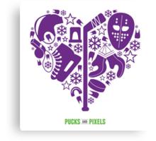Hockey Heart (Purple) Canvas Print