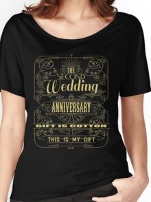 The Second Wedding Anniversary Gift Is Cotton For Him & Her Women's Relaxed Fit T-Shirt