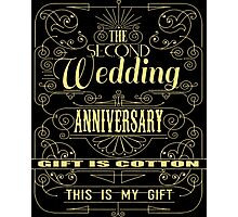 The Second Wedding Anniversary Gift Is Cotton For Him & Her Photographic Print