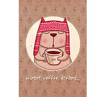 winter, coffee, dreams Photographic Print