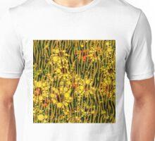 Yellow Flowers in Tall Grass Unisex T-Shirt
