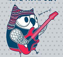 hard rock owl by moryachok