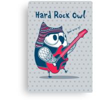 hard rock owl Canvas Print