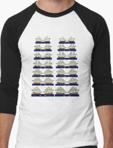 British and French 18th century Navies  Men's Baseball ¾ T-Shirt