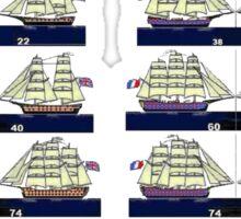 British and French 18th century Navies  Sticker