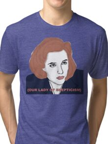 Our Lady of Skepticism  Tri-blend T-Shirt