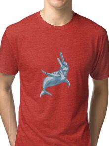 Amazon River Dolphin Drawing Tri-blend T-Shirt