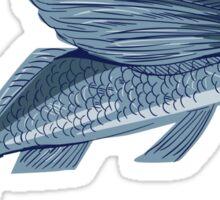 Flying Fish Drawing Sticker