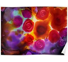 Abstract Roses Art Poster
