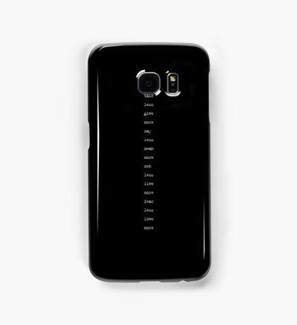the minimalist (version 2) Samsung Galaxy Case/Skin