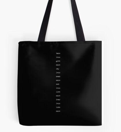 the minimalist (version 2) Tote Bag