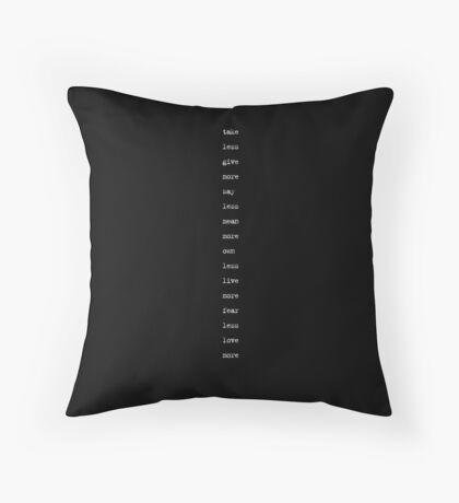 the minimalist (version 2) Throw Pillow