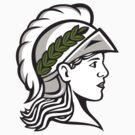 Minerva Head Side Profile Retro by patrimonio