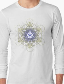 Metatron's Cube Design Long Sleeve T-Shirt