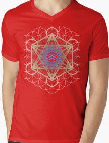 Metatron's Cube Design Mens V-Neck T-Shirt