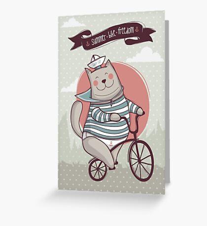 summer. bike. freedom Greeting Card