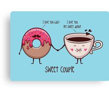 sweet couple Canvas Print