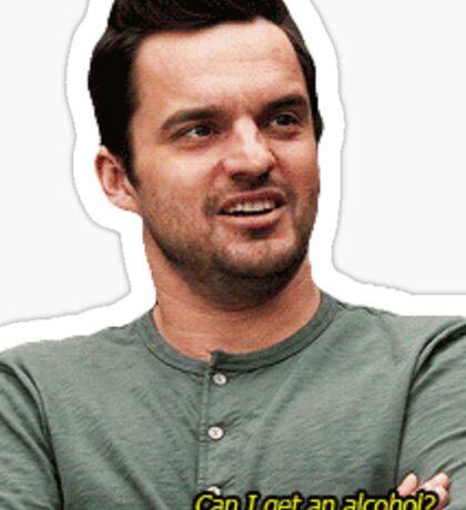 nick miller cutout Sticker
