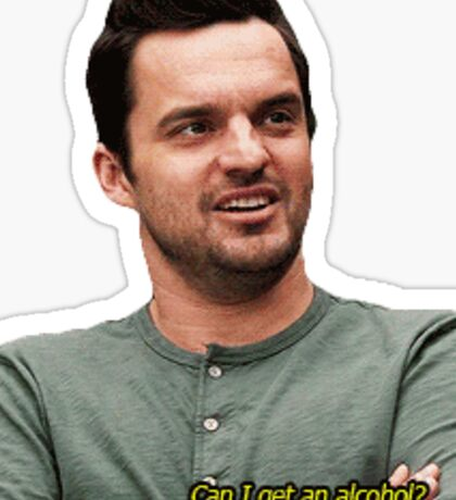 nick miller cutout Sticker