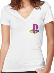 PlayStation 00 Women's Fitted V-Neck T-Shirt