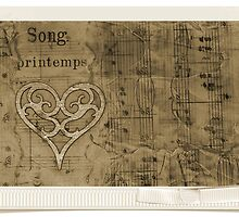 Collage Of Vintage Sheet Music - Beeswax by Sandra Foster