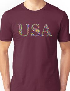 Colorful USA - United States of America - American Pride T Shirt Unisex T-Shirt