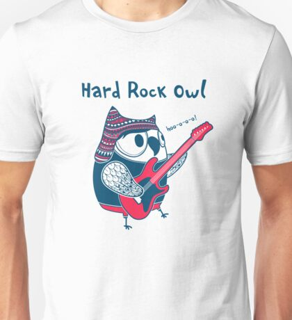 hard rock owl Unisex T-Shirt