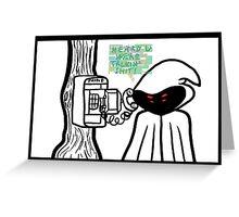 WTNV - Hooded Figure Greeting Card