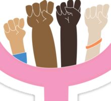 intersectional feminism symbol Sticker
