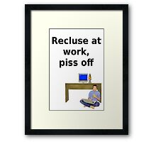 Recluse at work Framed Print