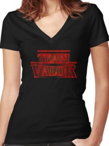 Team Valor Stranger Women's Fitted V-Neck T-Shirt