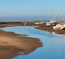 Boats at Blakeney by TomGreenPhotos